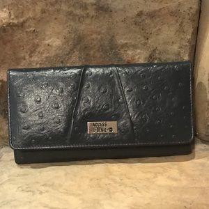 Navy Leather RFID Ladies Wallet NIB